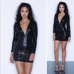 Brand New Kloset Envy Black Sequin Dress